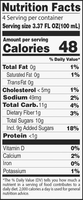 NUTRITIONAL FACTS YOGURTY DRINKS by Ricky Joy®